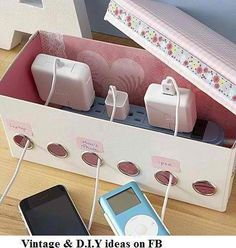 :) This is a neat idea for me so the cats won't chew the cords