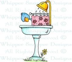 A.M. Shower - Birds - Animals - Rubber Stamps - Shop