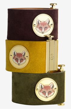 suede fox face cuff | tory burch