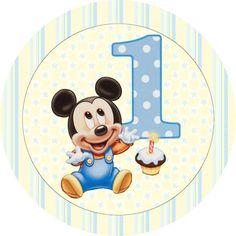 """Ideas y material gratis para fiestas y celebraciones Oh My Fiesta!: Imprimibles, imágenes y fondos """"Mickey cumple su primer año"""" 4."""