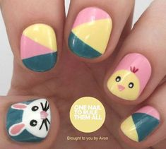 20 Simple, Easy & Cool Easter Nail Art Designs, Ideas, Trends & Stickers 2015