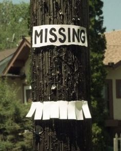 missing Tear off Tag sign