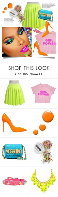 """""""Untitled #45"""" by aeris645 ❤ liked on Polyvore featuring Manoush, Casadei, Topshop, Moschino and RED Valentino"""