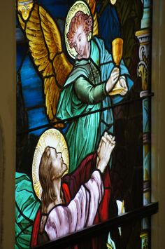 The Chalice of strength - Stained glass from my parish