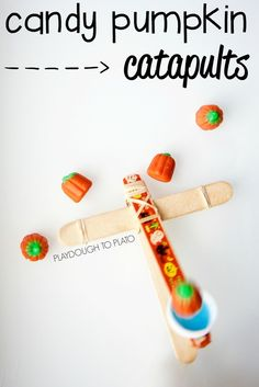 Pumpkin Catapults. What a rad STEM project for Halloween!