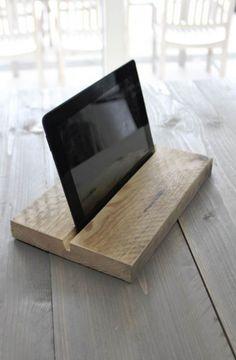 Steigerhouten+Tablet+houder.
