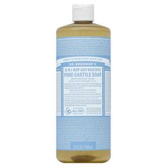 Don't Fall for These 6 Common Castile Soap Cleaning Mistakes Bronners Soap, Pure Castile Soap, Unscented Soap, Shower Routine, Best Cleaning Products, Liquid Soap, Organic Oil, Pure Essential Oils, Hair