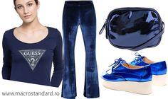 Tinuta feminina de culoare albastru metalizat My Style, Girls, Polyvore, Image, Fashion, Toddler Girls, Moda, Daughters, Fashion Styles