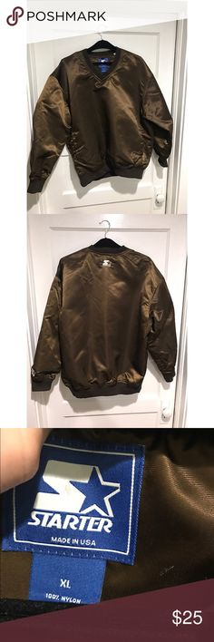 Metallic Brown STARTER pull over Size Extra Large Metallic brown STARTER pull over very lightly worn STARTER Sweaters
