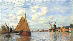 Zaan at Zaandam - Claude Monet