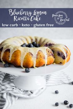Not only is this Blueberry Lemon Pound Cake perfectly moist and dense but it is also gluten free keto friendly and sugar free too Peace Love and Low Carb Keto Friendly Desserts, Low Carb Desserts, Low Carb Recipes, Real Food Recipes, Dessert Recipes, Diabetic Friendly, Free Recipes, Cookie Recipes, Dinner Recipes