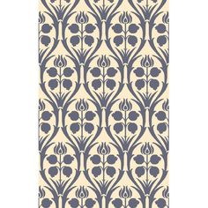 Bungalow Rose Amsterdam Hand-Hooked Blue/Beige Area Rug Rug Size: