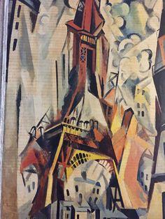 Vintage Mid Modern Century Robert Delaunay Eiffel Tower Print Rudolf Lesch