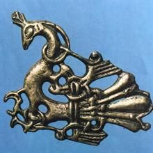 RINGERIKE STYLE This Viking style has its name from pictorial monolits from Ringerike in Norway. This is a forward development from the Danish Mammen style.This style consists of four feeted animals and birds with leaf shapes. 950 - 1050 A.D.