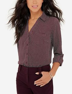 Printed Ashton Blouse from THELIMITED.com