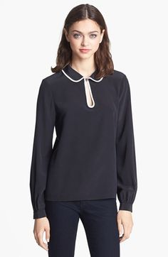 kate spade new york silk trilby blouse available at #Nordstrom
