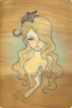 Audrey Kawasaki : love all of her work. I want her pieces in my bathroom/wardrobe