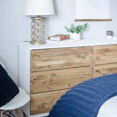 Tranform the Ikea Tarva Dresser to make it more modern and stylish with this simple 5 step tutorial!