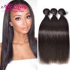 Cambogiana lisci capelli del virgin 3 bundles 7a non trasformati capelli vergini cambogiano rette pacchi dei capelli umani alionly cambogiana dei capelli