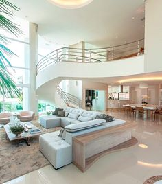 Modern Stairs, Elegant Homes, House Floor Plans, Sofa Com, Japanese Style House, Welcome To My House, Mediterranean Decor, Luxury House Plans, Casa Clean