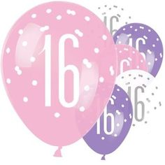 WARNING: Not suitable for children under 8 years. Children can choke or suffocate on uninflated or broken balloons. Pink Birthday, Sweet 16 Birthday, 16th Birthday, Birthday Ideas, Party Set, Latex Balloons, Cards, Profile, Age