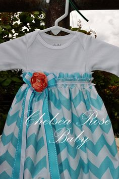 Baby Girl Onesie Dress... what is it that makes these chevron patterns so cute?