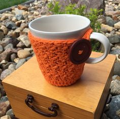 Crochet Mug Cozy, Coffee Cup Cozy, Crochet Cozy, Coffee Cozy, Coffee Cup Sleeve, Crochet Cup Sleeve, Mug Cozy, Tea Cup Cozy, Cup Sleeve    My crochet mug cozy is lovingly hand crocheted with the highest quality cotton fibers to ensure durability and use for years to come.  This beautiful crochet cup cozy will make the perfect gift for the coffee or tea lover in your life.  These also make perfect gift basket additions as well as Christmas stocking stuffers.     My crochet cup cozy is made…