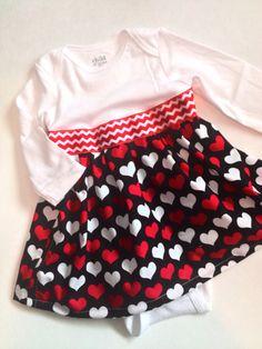 Valentines dress valentines onesie valentines by MissMacHandmade