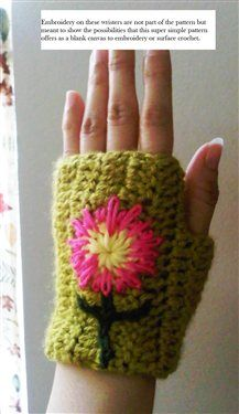 Fingerless gloves great to keep your fingers free to type etc.