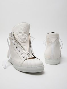 Alexander McQueen men's leather high top sneaker