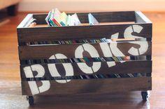 DIY Wooden Book Crate
