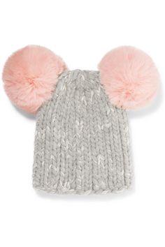 39e15abb1a6dc EUGENIA KIM Mimi pompom-embellished ribbed wool-blend beanie Eugenia Kim