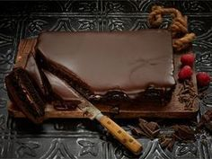 """Devil""""s Chocolate cake Vegan Desserts, Delicious Desserts, Yummy Food, Sweet Recipes, Cake Recipes, Finnish Recipes, Sweet Pastries, Sweet And Salty, Sweet Sweet"""