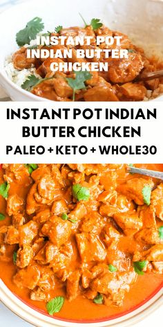 A take on one of your favorite Indian dishes. This butter chicken is a creamy and comforting dish that will change the way you feel about healthy eating! Indian Food Recipes, Paleo Recipes, Whole Food Recipes, Paleo Indian Food, Whole30 Recipes Chicken, Keto Chinese Food, Whole 30 Chicken Recipes, Easy Whole 30 Recipes, Chili Recipes