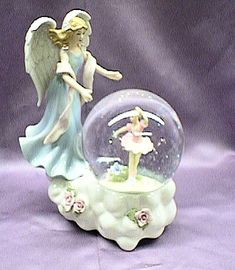 guardian angel snowglobes  bith Ballerina...musical