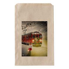North pole express - christmas train - santa train favor bag - christmas craft supplies cyo merry xmas santa claus family holidays