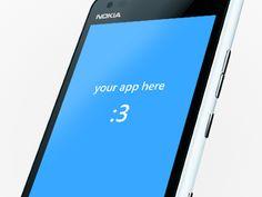 Windows Phone App Mockup [Free PSD]