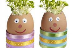 Manualidades infantiles Huevos peludos