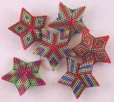 peyote stitch star - Google Search