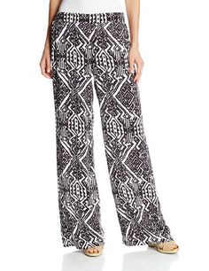 Ella Moss Women's Biarritz Wide Leg Pant, Black- own these and need more tops for them...