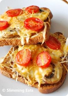 Cheesy Toast - Slimming World Recipes. Slimming World Diet, Slimming Eats, Slimming World Recipes, Slimming World Breakfast Ideas Quick, Slimming Word, Brunch, Yummy Food, Tasty, Cooking Recipes