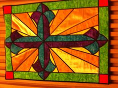 The quilt I made for church hangs in the welcome center.