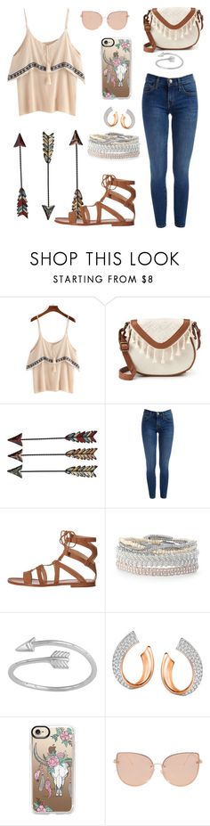 """""""Boho cute"""" by faith-galinis on Polyvore featuring T-shirt & Jeans, Frye, Stella & Dot, Midsummer Star, Swarovski, Casetify and Topshop"""
