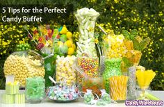 5 Tips for the Perfect Candy Buffet from Candy Warehouse - mazelmoments.com