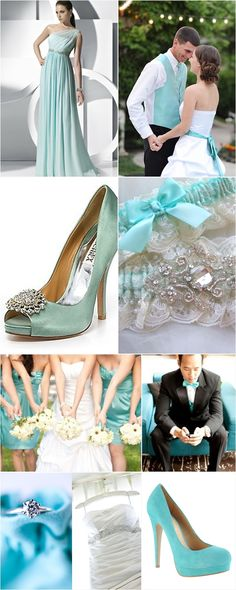 Turns out my dream colour scheme is known as tiffany in america! Tiffany Inspired Wedding Designs