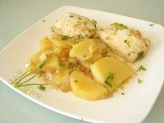Merluza con Patatas en Salsa Verde. Receta