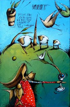 Artwork of Hanlie Kotze exhibited at Robertson Art Gallery. Original art of more than 60 top South African Artists - Since South African Artists, Afrikaans, Sadness, Woman Quotes, Sheep, Watercolour, Original Art, Motivational, Art Gallery