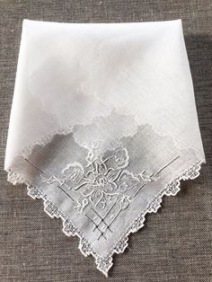 Vintage Wedding Handkerchiefs Perfect Bridesmaid Gifts to Treasure Your Friendship For the Bride.. Set of 2 or 3 Lace-Edged Handkerchiefs