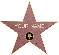 Amazon.com - PERSONALIZED WALK OF FAME Star Decal Removable Wall Sticker Decor Art Hollywood C790, Regular -