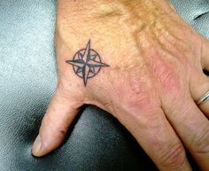 Collin Kasyans Tattoo Portfolio: Tattoo; Compass Rose, on Hand
